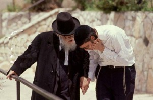Rabbi Eliezer Shach with a Follower